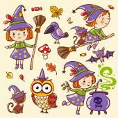 Halloween in cartoon style