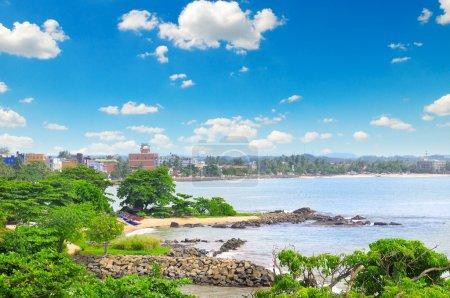 views of the port city on the ocean (Galle Sri Lanka)