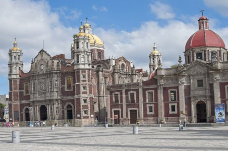 Old sinking Basilica in Mexico City