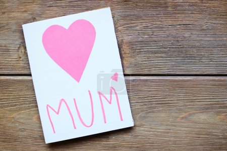 Greeting card with pink hearts