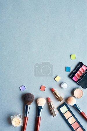 Powder brushes, lipsticks, shadows