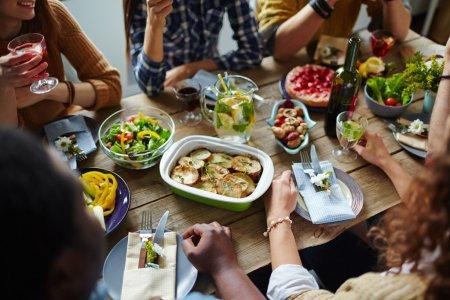 people eating dinner
