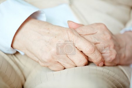 Hands of senior woman