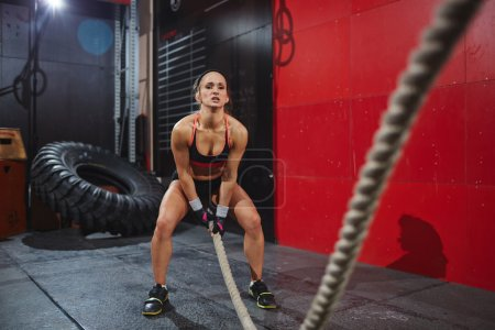 woman with rope training