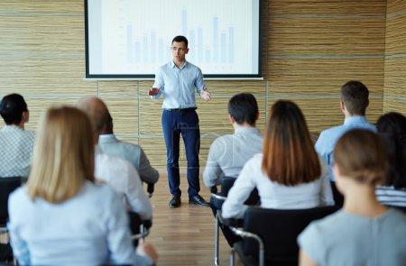 teacher explaining data