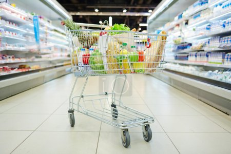 Consumer cart with products