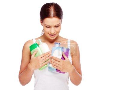 Photo pour Produits d'hygiène pour femmes - image libre de droit