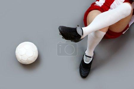 Soccer player relaxing
