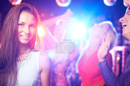 Attractive girl in nightclub