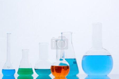 Flasks with multi-color liquids