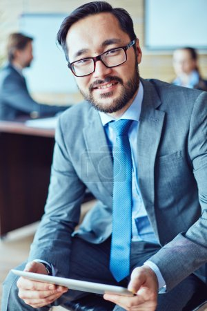 Businessman with charming smile