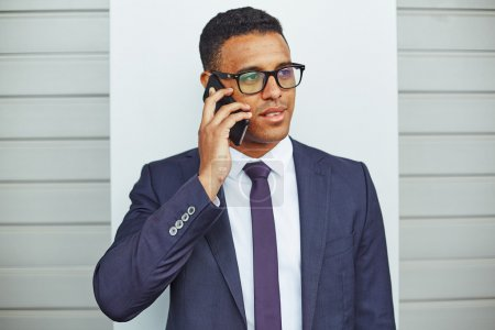 businessman  speaking on mobile phone