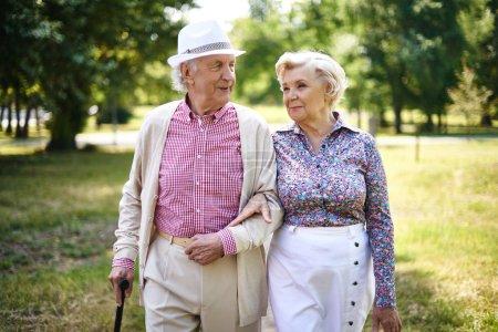 Senior couple in smart casual