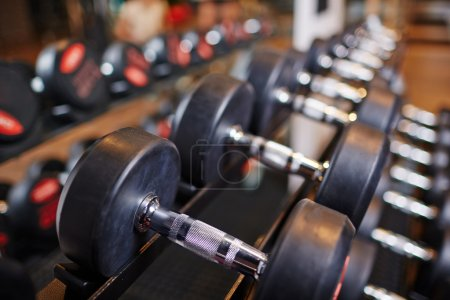 heavy barbells in gym