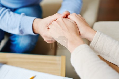 patient in psychiatrist hands