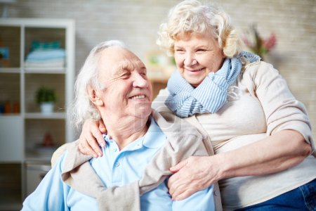 Cheerful elderly couple