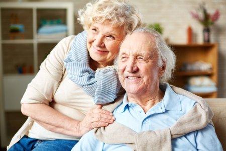 Happy senior husband and wife