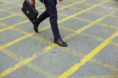 businessman Hurrying for work