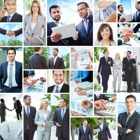 Photo for Collection of images with modern business people - Royalty Free Image