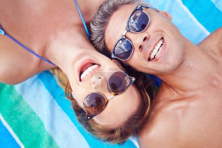 Young couple in sunglasses