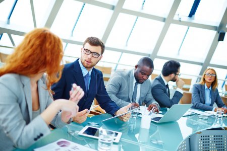 Photo for Business people at conference in office - Royalty Free Image