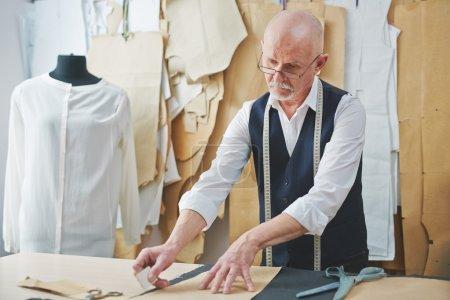 Mature tailor cutting pattern
