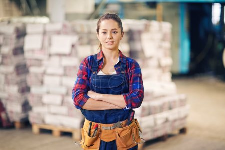female worker in warehouse