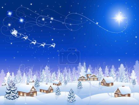 Christmas star and village