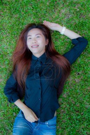 Asia teen relax