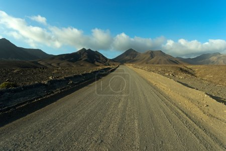 The Road in  Mountains of  Fuerteventura in area Jandia