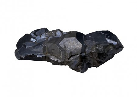 Galena,  ore of lead on white background isolated...