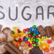 Food containing sugar. Too much sugar in diet caus...