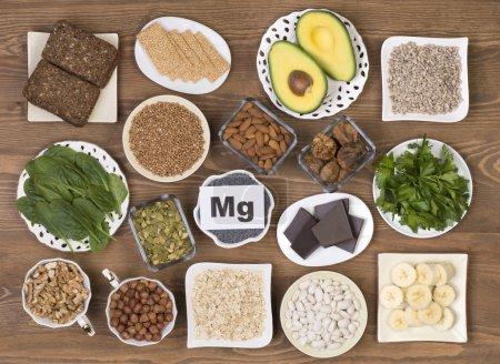 Food containing magnesium