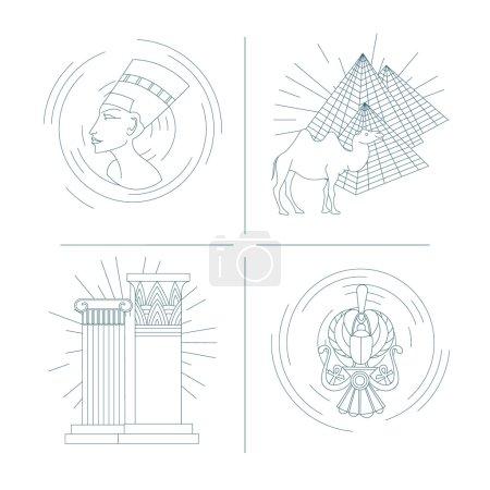 Vector set of symbols of Egypt