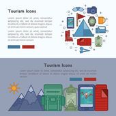 Tourism banner vector