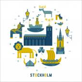 Stockholm icons in the form of circle