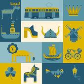 Vector set of symbols Stockholm