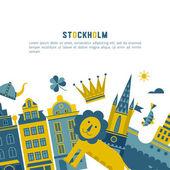 Stockholm vector design template