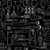 pattern of Cooking Kitchen utensils icons