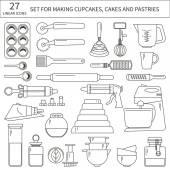 Set of baking ingredients
