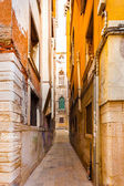 Kind of typical narrow street in the old town. Venice. Italy