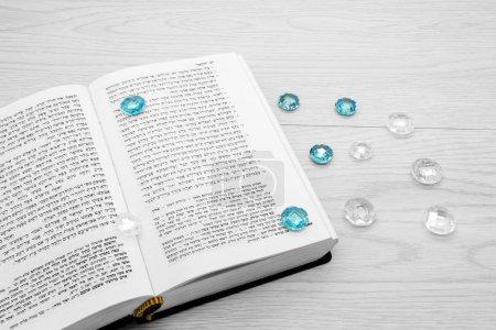 Torah book and precious stones
