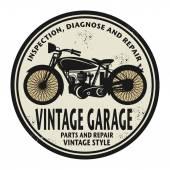 Grunge razítko s nápisem Vintage garáž