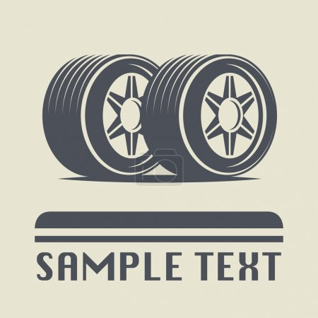 Illustration for Car wheel icon or sign, vector illustration - Royalty Free Image