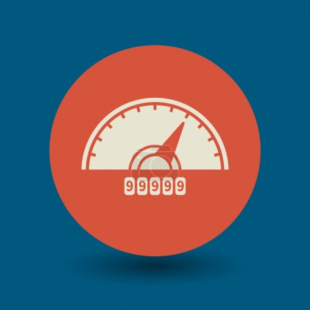 Car instruments icon or sign, vector illustration...