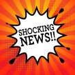 Comic book explosion with text Shocking News, vect...