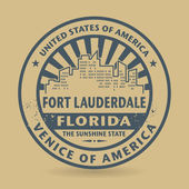 Grunge rubber stamp with name of Fort Lauderdale Florida