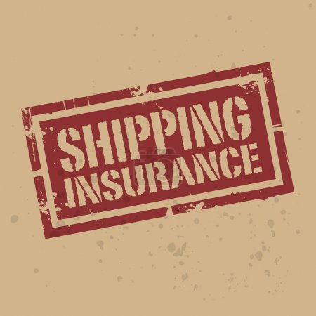 Abstract stamp or label with text Shipping Insurance