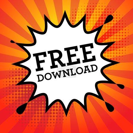 Illustration pour Explosion comique avec texte Téléchargement gratuit, illustration vectorielle - image libre de droit