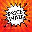 Comic book explosion with text Price War, vector i...